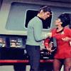 skywardprodigal: spock grips uhura (trek-uhuragripsspockgripsuhura)