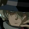 crowsong: Gin leaning his head to a side, looking unimpressed. (you cock your gun; the blood will run;)