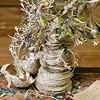 poetree: Paper sculpture of bulbuous tree made from strips of book pages (Default)