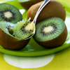 foodie: Kiwi being spooned (Kiwi spoon)