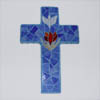 jic: blue tile cross with dove and rose (Ordinary Time Blue)