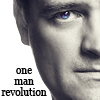 lilyleia78: Close up of David Hewlett captioned one man revolution (SGA: DH revolution)