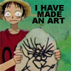 keysha: (Luffy - Made an Art [One Piece])