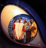 eien_herrison: The Animorphs group (Jake, Rachel, Marco, Cassie, Tobias) inside the iris of an Andalite's eye (Animorphs Group)