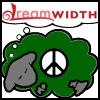 susanreads: Green dreamsheep with peace symbol (peace sheep)