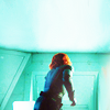daphnie_1: Natasha, kicking ass, turned away against a green background. (Marvel | Natasha | My Own Women)