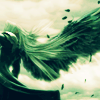 swordage: Sephiroth, hair morphing into a wing. (x one winged angel)
