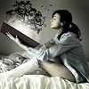adultreadersofyalit: girl reading a book out of which a tree is appearing (reading)