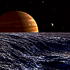 daydreamerexpress: Moonrise off Io... (final frontier)