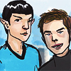 "bossymarmalade: spock and kirk say, ""you got it"". (our obvious greatness)"