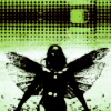 outlineofash: Stylistic science fiction rendering of a woman with moth wings. (Fiction - Biopunk)