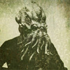 outlineofash: Old-time photograph of Cthulhu's head on a man's body. (Sundry - Cthulhu)