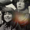 laurashapiro: Sarah Jane looks happy. The Fourth Doctor looks concerned. (four and sarah jane)