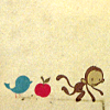 ilpleut: (art| bird apple monkey)