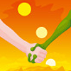 thefourthvine: An alien and a human holding hands. (Alien hands)