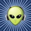 thefourthvine: An alien head wearing headphones. (Music - alien)