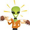 thefourthvine: An alien unzips his human skin. (Alien unzip)