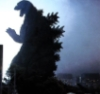 halialkers: Godzilla in silhouette, roaring from right profile view (Set Jr 2)
