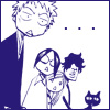 yati: Ichigo, Ishida, Orihime, Chad and Yoruichi from the Bleach manga, looking exaggeratedly shocked. (we have no words)