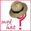 wychwood: g_s question mark wearing a hat (mod hat) (mod - getting started mod hat)