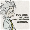 yami_jay: Don't remember who did it... Stupid = Wrong. (Bleach Hitsugaya Stupid)