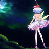 skygiants: Princess Tutu, facing darkness with a green light in the distance (golden-haired ghost)