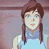 painted_dragon: Korra looking up with a wonderous expression. (空を見上げて)