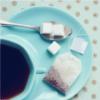 calmcanaries: (TEA -- Blue Tea & Sugar Cubes)