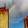 j00j: rainbow over east berlin plattenbau apartments (Default)