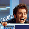 one_hoopy_frood: Tenth Doctor squeeing (Squee)