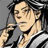 onifukuchou: Hijikata Toushizou from Peacemaker Kurogane (staring down)