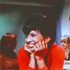 leanwellback: uhura doing chinhands <3 (trek- tell me about vulcan in moonlight)