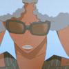 ninasafiri: (afro, fierce fucking hair, shades, atsuko, summer time bitches!)