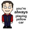 sarahkbee: drawn pic of Arthur (Arthur art, Cabin Pressure Arthur, yellow car)