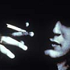 outlineofash: A face half in shadow smokes a cigarette. Artist unknown. (Mood - Cynical)