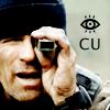 "orockthro: Jack O'Neill holding up a tiny telescope with text saying ""I C U."" (Jack O'Neill: ICU)"