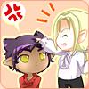 tatsube: Tatsube being teased by Kojiro. Drawn by Joly. (Tatsube & Kojiro)