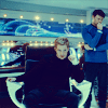 sloth: McCoy and Kirk posing on the bridge (OTP: body shot)