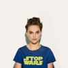 sloth: Natalie Portman wearing a Stop Warz t-shirt (stop warz)