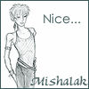 mishalak: A fantasy version of myself drawn by Sue Mason (Scruffy)
