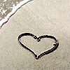 musesfool: heart drawn in the sand (heart)