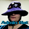 "azurelunatic: ""Admin Hat"": azurelunatic wearing a purple hat  (_adminhat)"