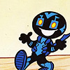 odditycollector: A simplified rendition of Jaime Reyes walking forward with a large grin and open arms (Jaime Reyes)