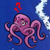 "odditycollector: a confused looking octopus with ""!?"" above its head (Octopus)"