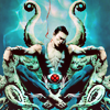 supertights: An image of the Marvel character Namor sitting on an ornate tentacle throne. (Namor)
