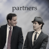 "veleda_k: Peter and Neal from White Collar. Text says, ""Partners."" (White Collar: Neal & Peter)"