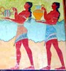 minoanmiss: Minoan men carrying offerings in a procession (Offering Bearers)