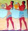 minoanmiss: Minoan men carrying offerings in a procession (Offering Bearers)