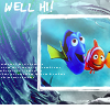 "wistfuljane: dory & marlin (finding nemo) with the caption ""well hi!"" (well hi)"