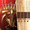 "wistfuljane: the mondoshawan with a barcode and the caption ""tragically slow"" (tragically slow)"